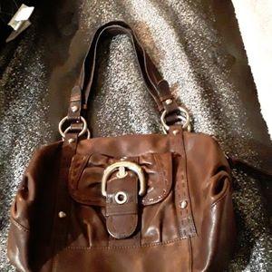 B. Makowsky Brown Leather Purse